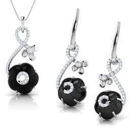 Iva  Black Onyx Matching Set