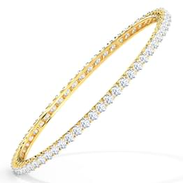Scintillating Solitaire Bangle