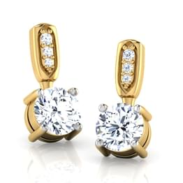 Metro Solitaire Drop Earrings