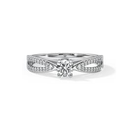 Love Knot Solitaire Ring