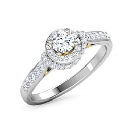 Halo Round Solitaire Ring