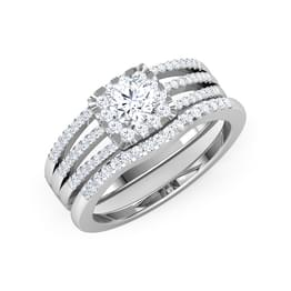 Stellar Solitaire Bridal Ring Set