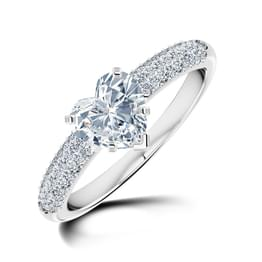 Charm Heart Solitaire Ring