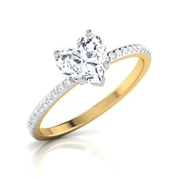 Zest Heart Solitaire Ring