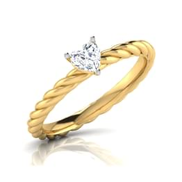 Amia  Heart Solitaire Ring