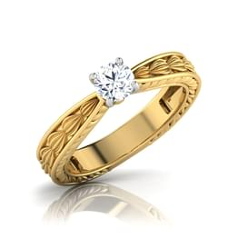 Zora Gold Solitaire Ring