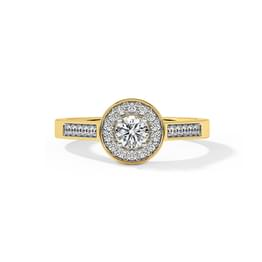 Alicia Halo Solitaire Ring