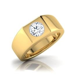Owen Solitaire Ring for Him