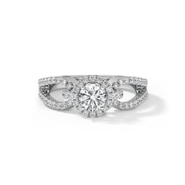Eleanor Hoop Solitaire Ring
