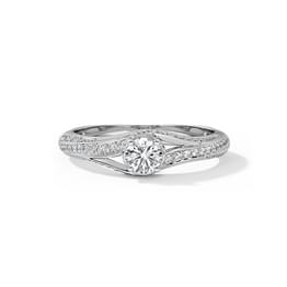 Amy Twine Solitaire Ring