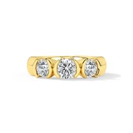 Belle Trio Solitaire Ring