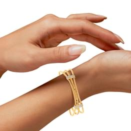 Kiva Layered  Gold Bangle