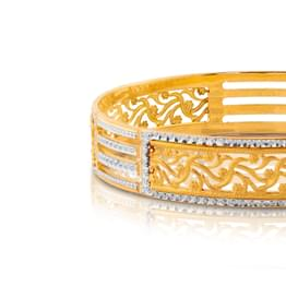 Eilin  Mesh Gold Bangle