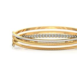 Crossover Deco Gold Bangle
