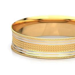 Two-Tone Linear Gold Bangle