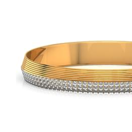Three-Tone Pattern Gold Bangle