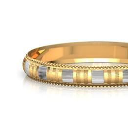 Straight Facet Gold Bangle