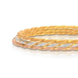Spiral Twist Gold Bangle Set of 3