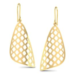 Latticed Triangular Lace Earrings
