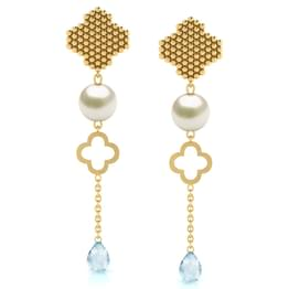 Clover Jharokha Drop Earrings