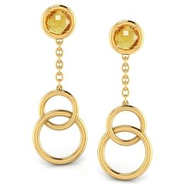 Intertwined 'O' Drop  Earrings