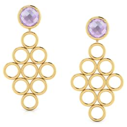 Symmetric 'O' Chandelier Earrings