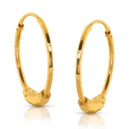 Dea Wrapped Gold Hoop Earrings