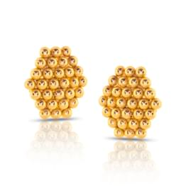 Jayna Granulated Gold Stud Earrings