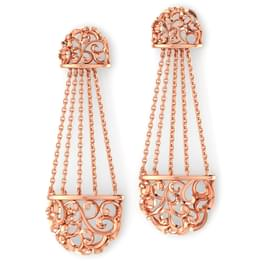 Chained Filigree Drop Earrings