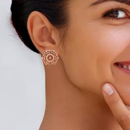 Symmetric Filigree Stud Earrings