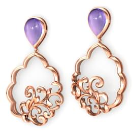 Framed Filigree Drop Earrings