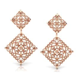 Intricate Filigree Drop Earrings
