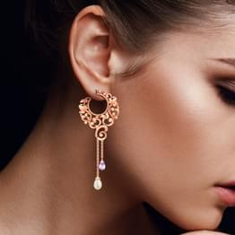 Circling Filigree Drop Earrings