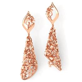 Conoid Filigree Drop Earrings