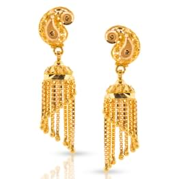Miti Beaded Gold Jhumkas