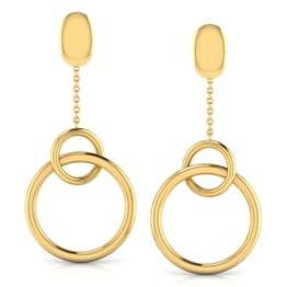 Ringed 'O' Drop Earrings