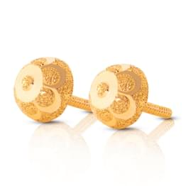 Flower Textured Stud Earrings