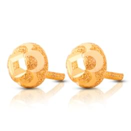 Button Textured Stud Earrings