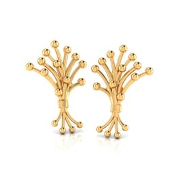 Pollen Gold Stud Earrings