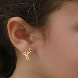 Pod Gold Stud Earrings