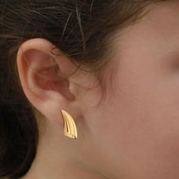 Cone Gold Stud Earrings