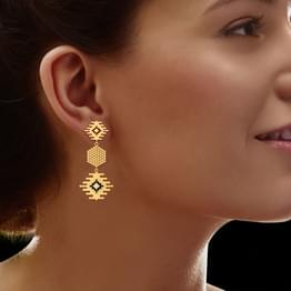 Miligrain Gold Drop Earrings