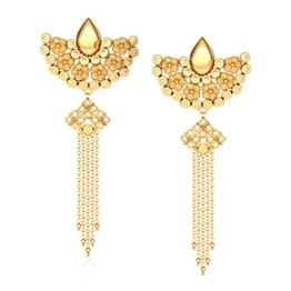 Bloom Tassel Drop Earrings