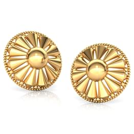 Edgy Beads Gold Stud Earrings