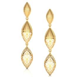 Dome Filigree Gold Drop Earrings