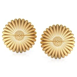 Tapered Cone Gold Stud Earrings