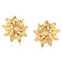 Lucid Flora Gold Stud Earrings
