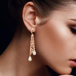 Alluring Filigree Drop Earrings