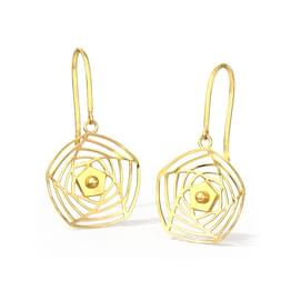 Rosette Cutout Drop Earrings