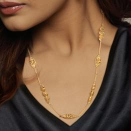 Jali Beaded 22Kt Gold Necklace